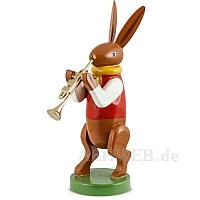 Hasenmusikant mit Trompete