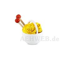 Körbchen mit Wolle, gelb