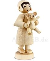 Geschenkemädchen mit Teddy naturbelassen