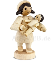 Geschenkemädchen mit Puppe naturbelassen