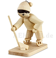 Eishockeyspieler Torwart naturbelassen