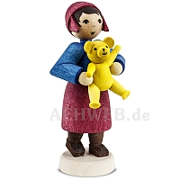 Geschenkemädchen mit Teddy gebeizt