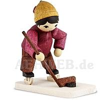 Eishockeyspieler Torwart gebeizt