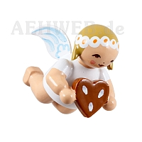 Little suspended angel with Gingerbread Heart