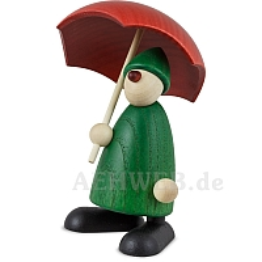 Gratulant Charlie grün mit Schirm