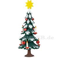Weihnachtsbaum lasiert