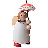 Schutzengel mit Schirm beige