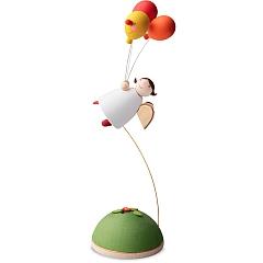 Schutzengel mit 3 Luftballons fliegend