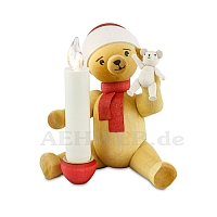 Christmas bear with bear and candle