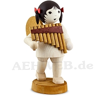 Angel with Pan Flute stained