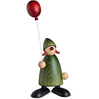 Gratulantin Lina mit Luftballon grün