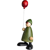 Gratulant Linus mit Luftballon grün