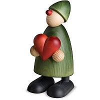 Gratulant Theo mit Herz grün