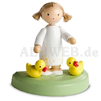 Girl with two Ducklings