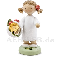 Girl with blooms basket