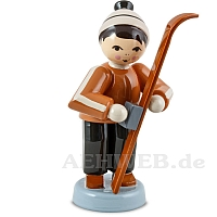 Skiwachser Junge stehend braun