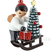 Christmas Ornament Seller with Sledge red from Ulmik