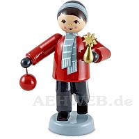 Christmas Ornament Seller Boy red from Ulmik