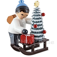 Christmas Ornament Seller with Sledge blue from Ulmik