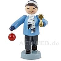 Baumschmuck Verkäufer Junge stehend blau