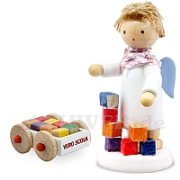 Angel with Carriage with Building Blocks