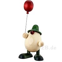 Eierkopf Otto mit Luftballon grün 15 cm