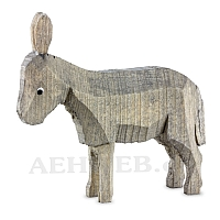 Donkey standing stained