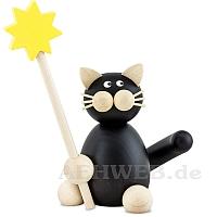 Katze Hilde mit Stern
