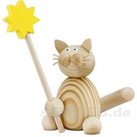 Katze Moritz mit Stern