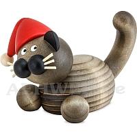 Weihnachts Katze Karli auf der Lauer