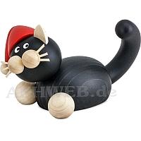 Weihnachts Katze Hilde auf der Lauer