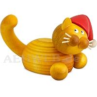 Weihnachts Katze Emmi auf der Lauer