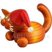 Weihnachts Katze Charlie auf der Lauer