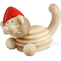 Weihnachts Katze Moritz auf der Lauer