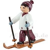 Skifahrer lila
