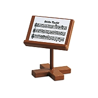 Small music stand for sitting angels