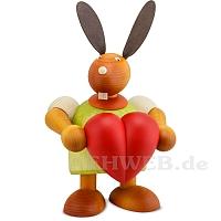 Maxi Hase mit Herz grün
