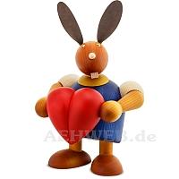 Maxi Hase mit Herz blau