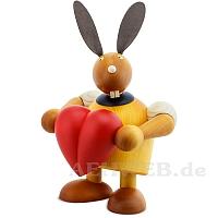 Maxi Hase mit Herz gelb