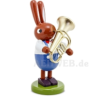 Hasen mit Tuba 8 cm