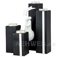 Adventsleuchter Schwarz-Weiß