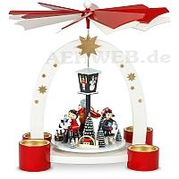 Bogenpyramide Teelicht Erzgebirgische Weihnacht lackiert