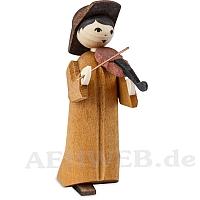 Musikant mit Geige gebeizt 7 cm Krippen