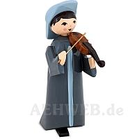 Musikant mit Geige lackiert 7 cm Krippen