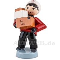 Junge mit Paketen rot