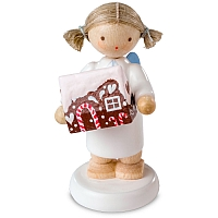 Angel with Gingerbread House