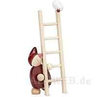 WICHT mit Leiter und Vogel rot