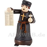 Räuchermann Luther mit Anschlag gebeizt