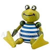 Bathing frog Berta sitting