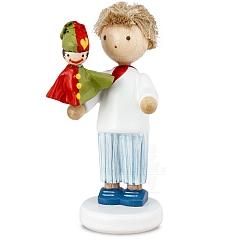 Boy with Kasperle Puppet